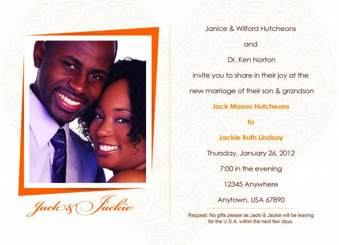 Clean Wedding Photo Card