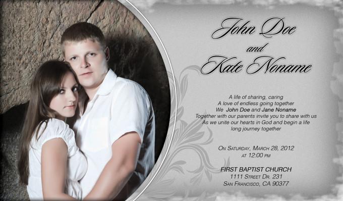 Classy Front Wedding Invitation