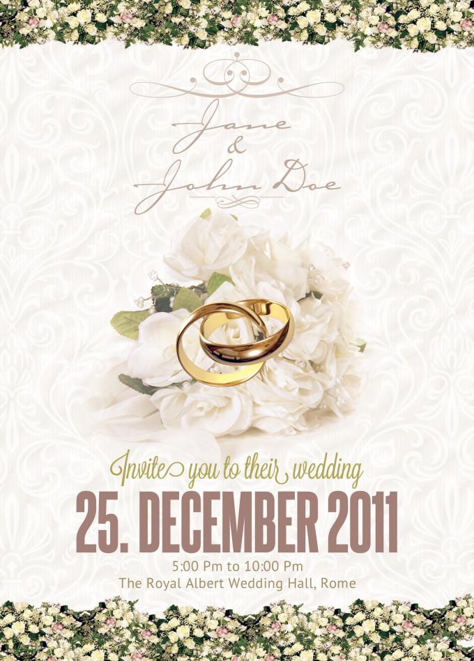 Classy Wedding Card