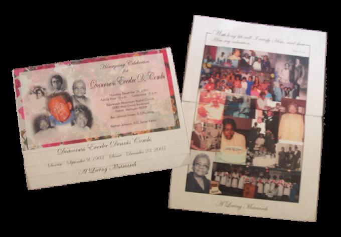Hand-Folded Offset Obituaries
